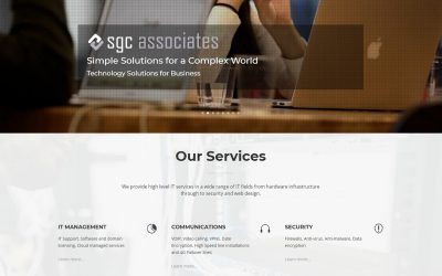 New Web Site for SGC Associates Ltd